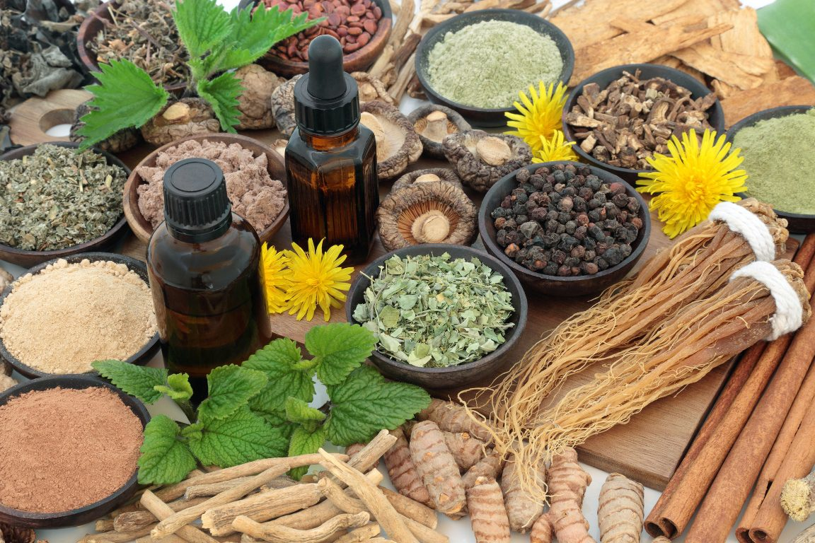herbal medicine on the top of the table